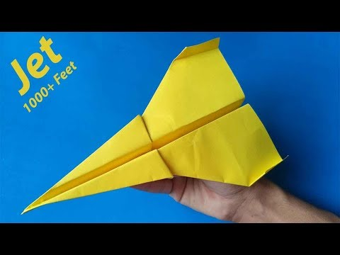 How To Make The Best Paper Airplane Jet in the World That Flies Far 10000 Feet - Paper Airplane