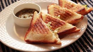 Dahi Sandwich Recipe - Yogurt Veg Sandwich - Sandhya