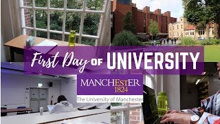 First Day of Uni Vlog || Exchange at University of Manchester