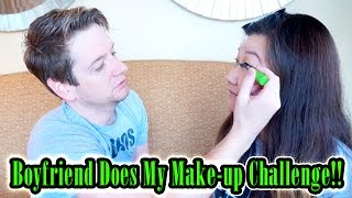 boyfriend does my makeup challenge with chad alan he made me look beautiful