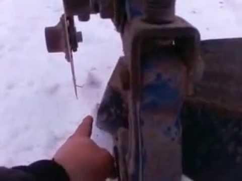 дисковый нож плуга(переделанное крепление) - YouTube