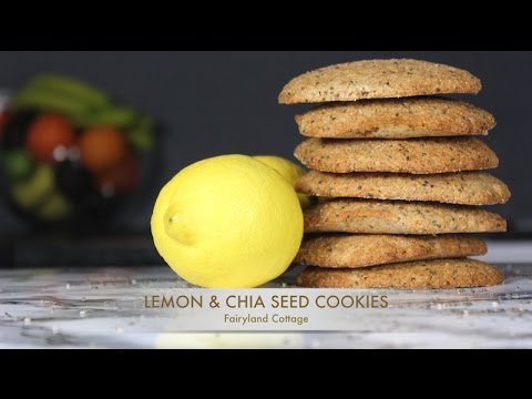 Lemon & Chia Seed Cookies - Vegan - High Protein - New & Improved - Fairyland Cottage