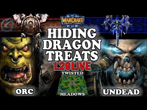 Grubby | Warcraft 3 TFT | 1.29 LIVE | ORC v UD on Twisted Meadows - Hiding Dragon Treats