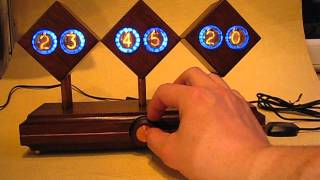 Monjibox Happy Robot Nixie Clock Gps Syncro Zm1022 Rare Tubes - Wooden Case