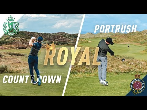 THE ULTIMATE LINKS GOLF TRIP W/PETER FINCH! Royal County Down & Portrush Course Vlogs.