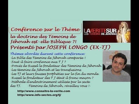la secte des témoins de jéhovah a détruit ma famille ! témoignage de Joseph Longo ex TJ