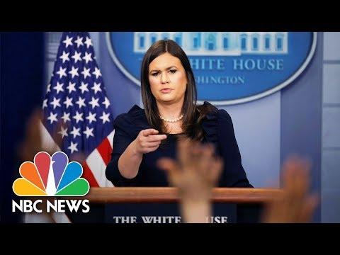 Watch Live: White House Press Briefing - November 1, 2017
