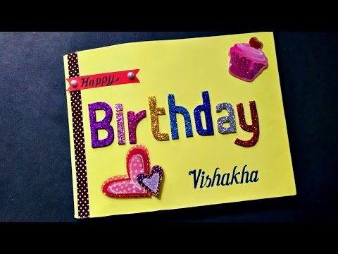 Handmade Cardsbirthday Card For Best Friend Youtube