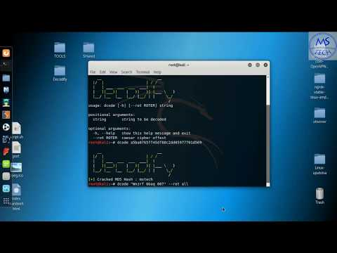 Decodify (detect And Decode Encoded Strings) | Kali Linux 2017.3