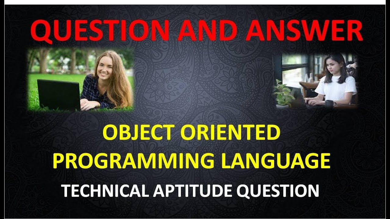 Object Oriented Programming Mcq With Answers