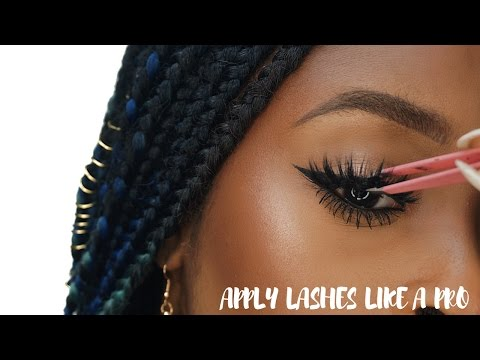 How To Apply False Eyelashes For Beginners Simple Easy And Quick
