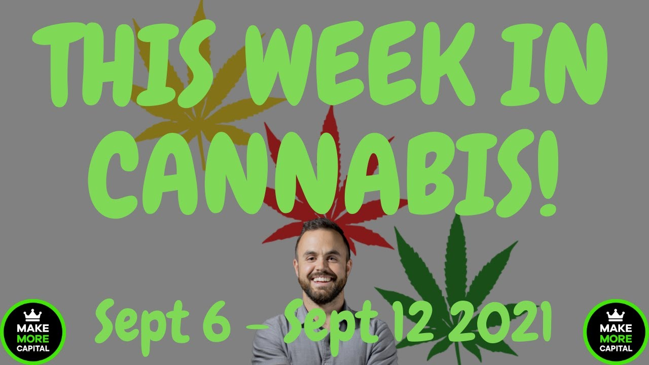 This Week in Cannabis News - Sept 6 to Sept 12 + Final Portfolio Update