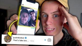 Prankar Instagram med fejkade bilder i en vecka