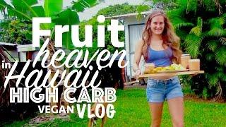 Fruit Heaven in Hawaii - High Carb Vegan VLOG - Big Island
