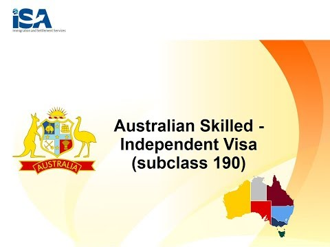 ISA Global Videos | Australia Skilled Independent Visa Subclass - 190
