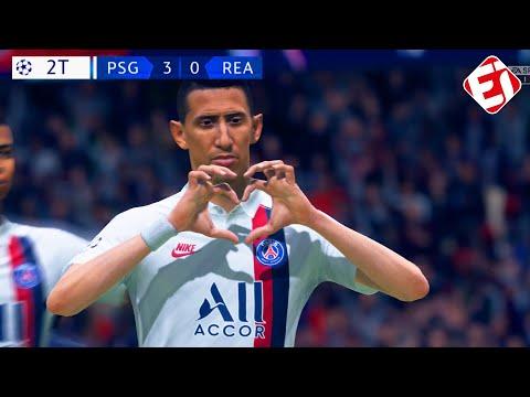 PSG 3 x 0 REAL MADRID - CHAMPIONS LEAGUE RECRIADA NO FIFA 20