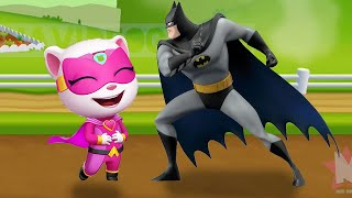 BATTLE! MY TALKING ANGELA vs BATMAN ?