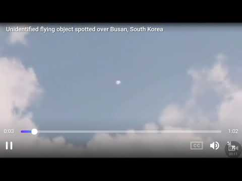 Unidentified flying object spotted over Busan, South Korea