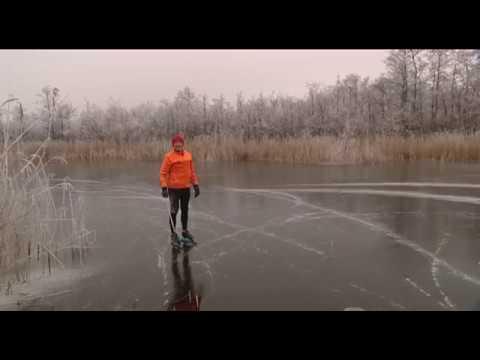 Durfal eerste schaatser