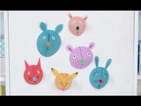 Crafts For Kids Cute Paper Animal Heads Youtube