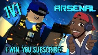 Roblox! Arsenal 1v1! I win you subscribe or follow :D