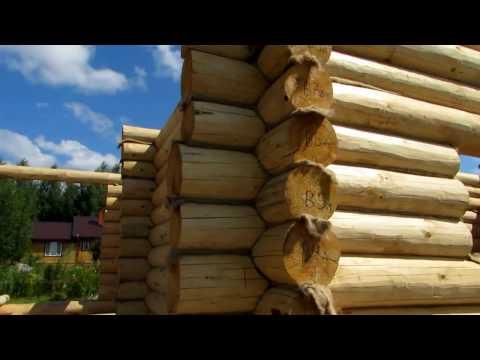 Строительство бани из бревна 6,5 на 8,5 с террасой / Большая баня из сруба // МАСТЕР ДАЧИ