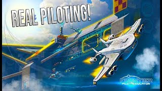 Frontier Pilot Simulator - First look - Weather conditions / atmospheric flight control!