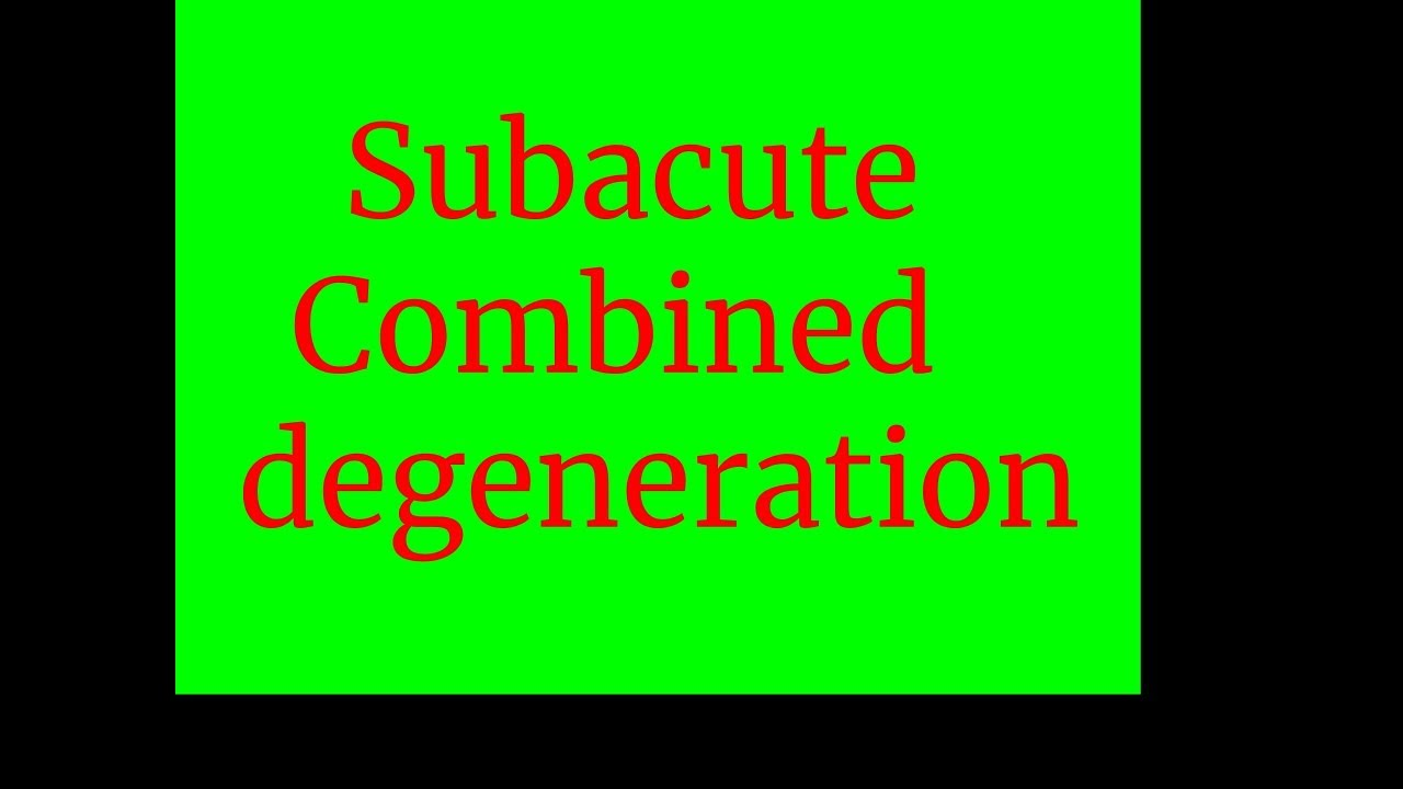 Subacute Combined degeneration - YouTube B12 Deficiency Spinal Cord