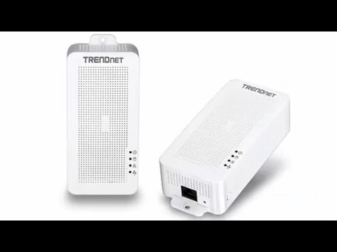 TRENDnet Powerline 200 AV PoE +, a low speed PLC but capable of powering your devices