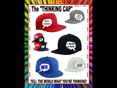 "THE ""THINKING CAP"" Baseball Cap.. Speak without talking by using MIND LANGUAGE Kickstarter campaign"
