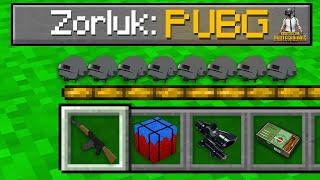 PUBG ZORLUK SEVİYESİ ✈️🪂 - Minecraft