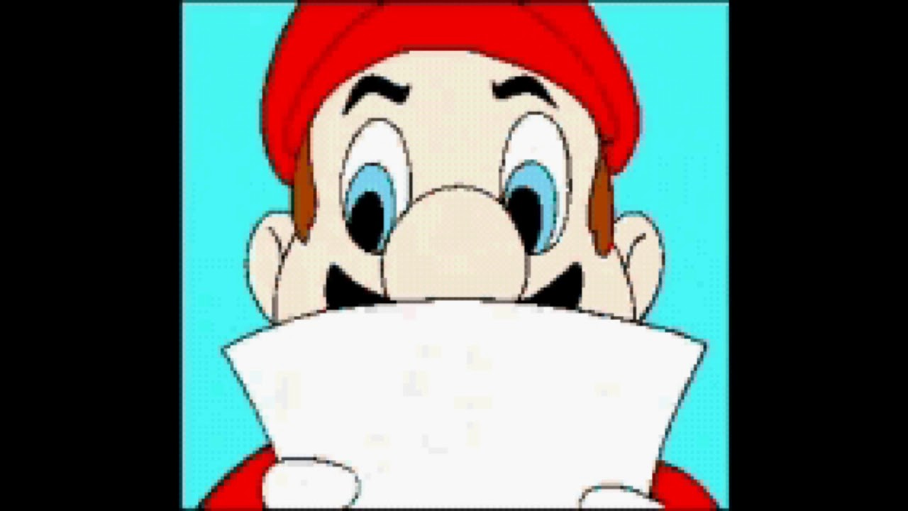 The Hotel Mario intro as a GBA ROM