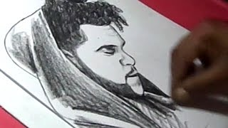 How to Draw Canadian Singer The Weeknd Drawing