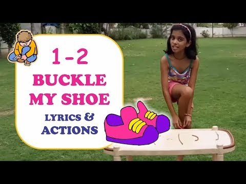 1 2 BUCKLE MY SHOE with Actions | Nursery Rhymes Songs with Lyrics