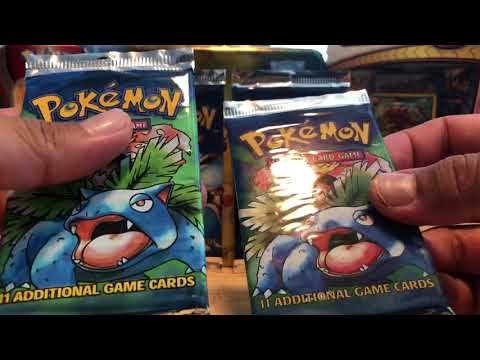 New Pokémon sealed vintage booster packs to add to my sealed collection! Base set goodness!