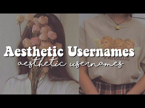 ✩ Aesthetic Usernames ✩