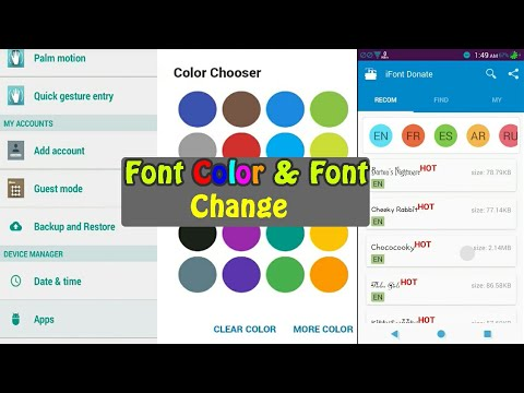 Font Change And Color Font Android