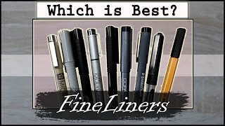 Which Fineliner is the BEST Of ALL?! | LETS FIND OUT