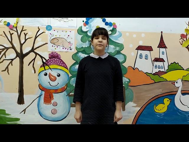 Изображение предпросмотра прочтения – ВиолеттаМусина читает произведение «Чародейкою Зимою…» Ф.И.Тютчева