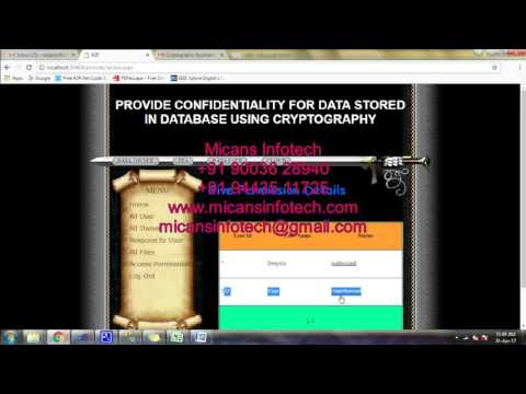 Provide Confidentiality for data stored in database using cryptography