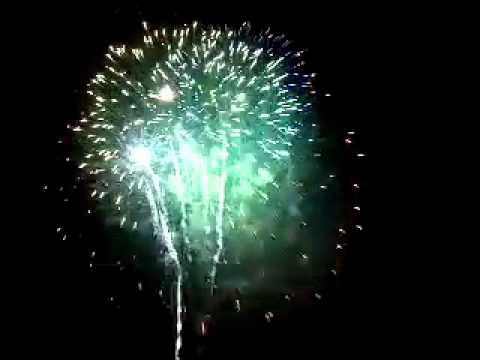 Newtonville, MA fireworks finale. July 4, 2012.