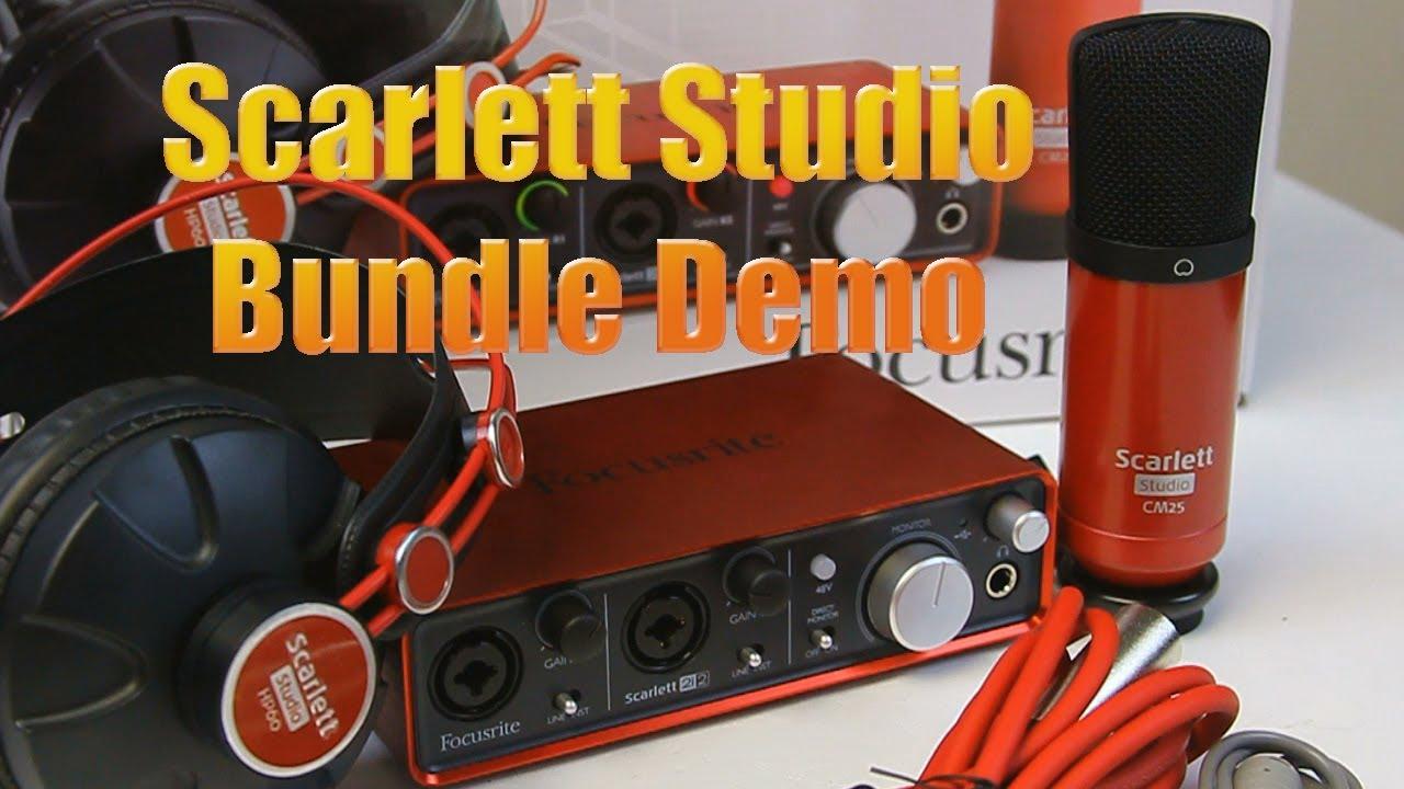 focusrite scarlett studio recording bundle unboxing and demo pmt youtube. Black Bedroom Furniture Sets. Home Design Ideas