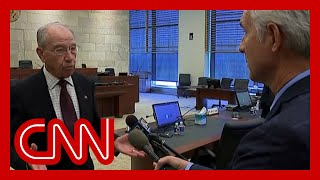 CNN reporter asks Sen. Grassley about flip-flop on Trump