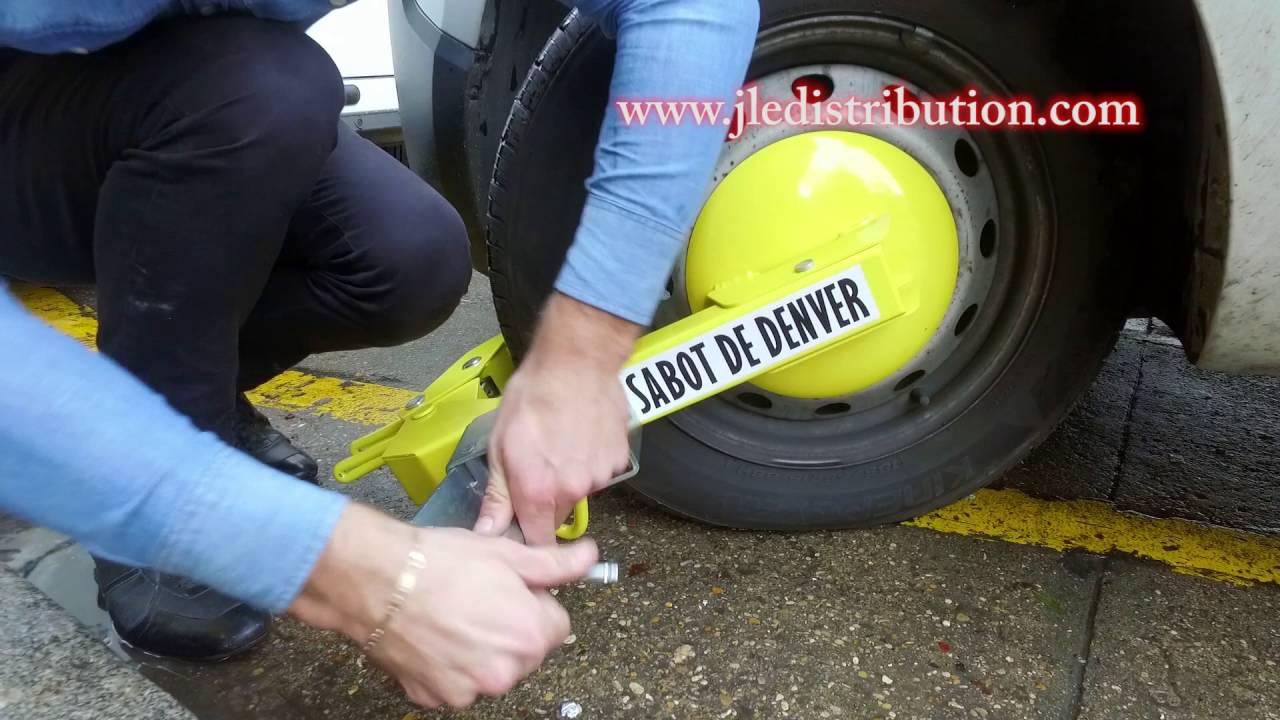 video montage et demontage du sabot de denver bloque roue antivol youtube