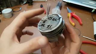 How to Install and Clock Piston Rings. Ring End Gap Spacing