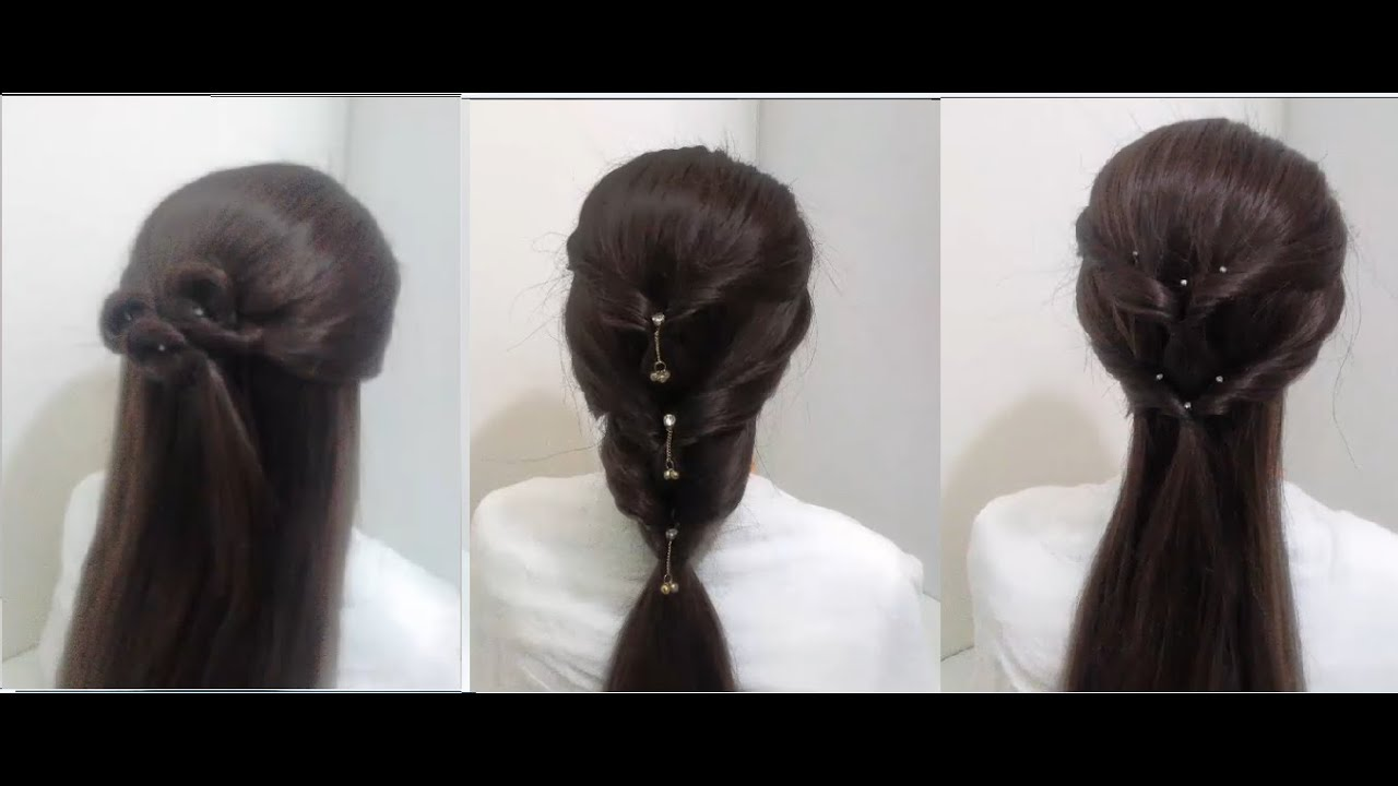 4 Quick and Easy Hairstyles for Medium Hair - YouTube