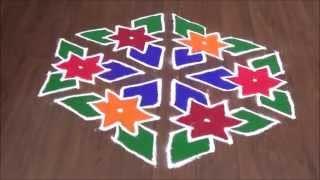 Diwali special Dots rangoli design