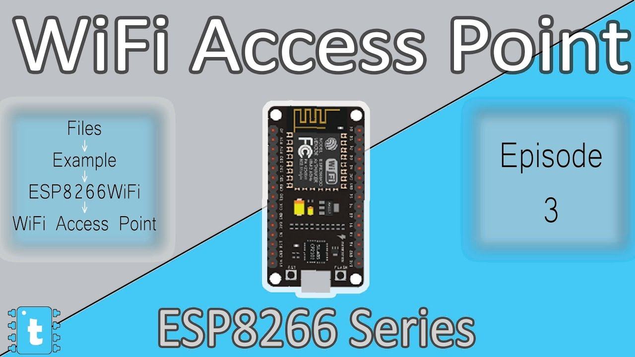 WiFi AccessPoint Example Explained | ESP8266WiFi Tutorials #3