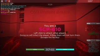 Roblox SCP rbreach: Infected to SCP-610 and winning.