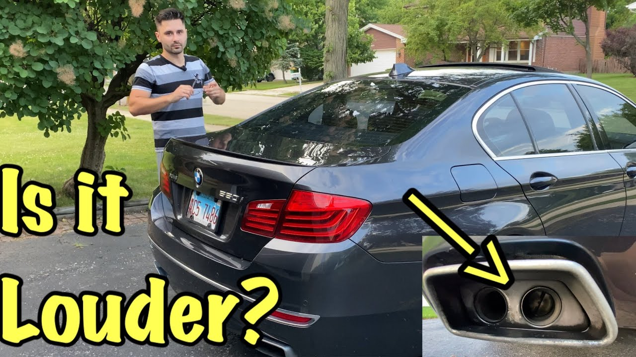 bmw 550i stock exhaust free mod is it louder